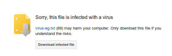 Cloud storage virus scanning issue